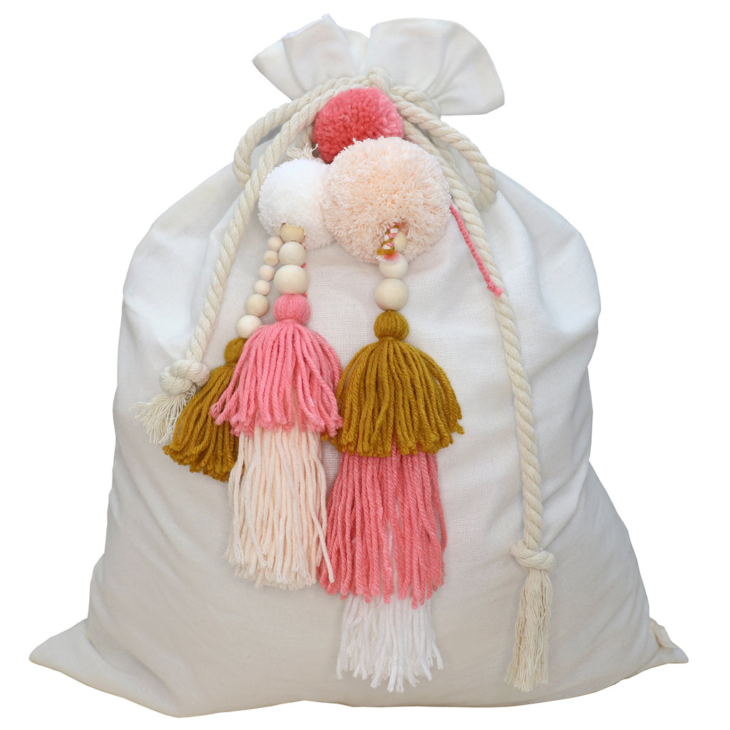 SALE // Cream Santa Sack with Honey Pinks Jumble **PHOTOSHOOT SAMPLE**