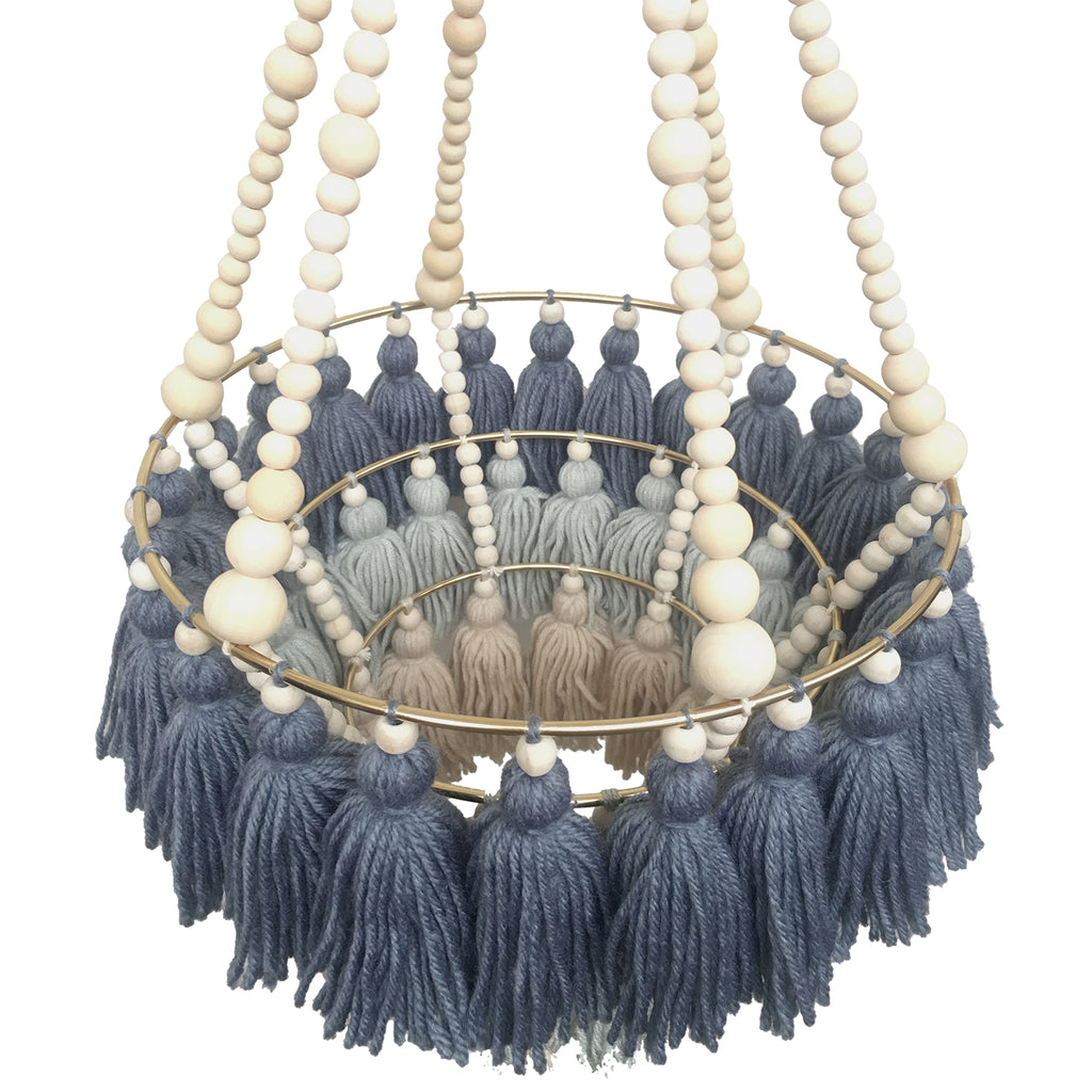 DENIM // Triple Layer Tassel Chandelier