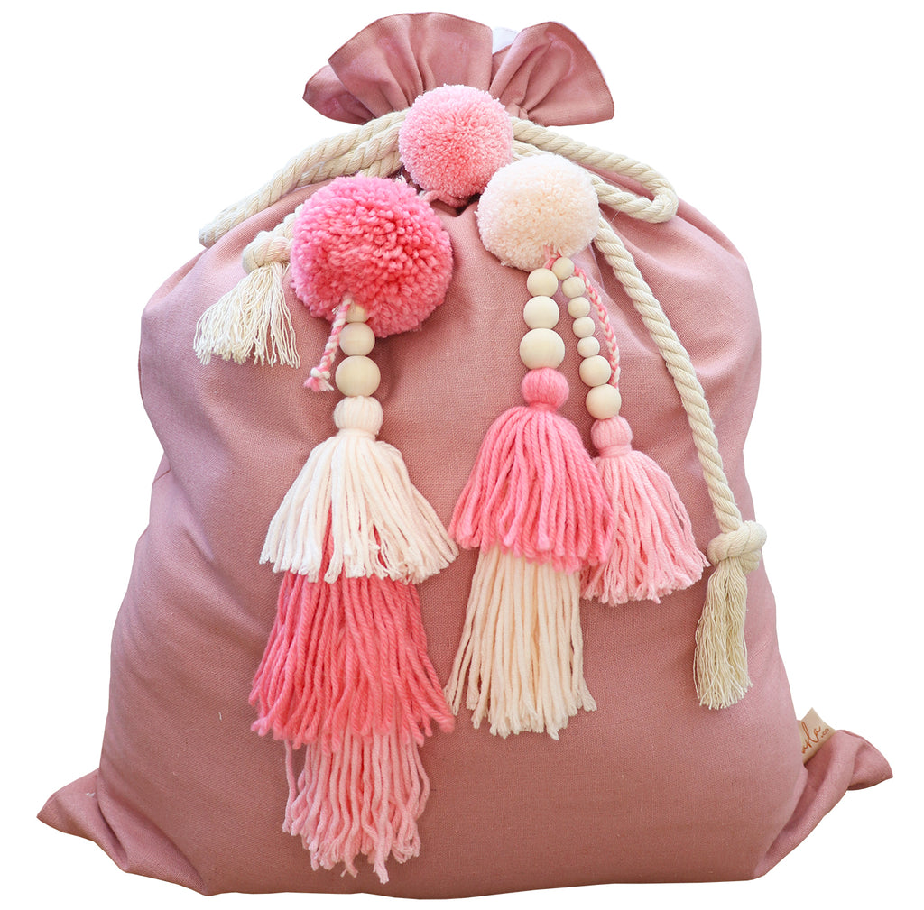 SANTA SACK // Dusty Pink