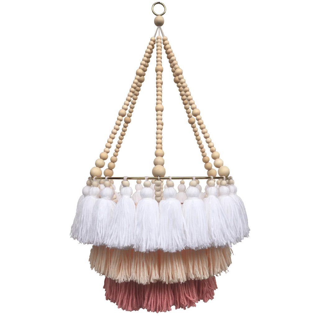 FLEUR // Triple Layer Tassel Chandelier