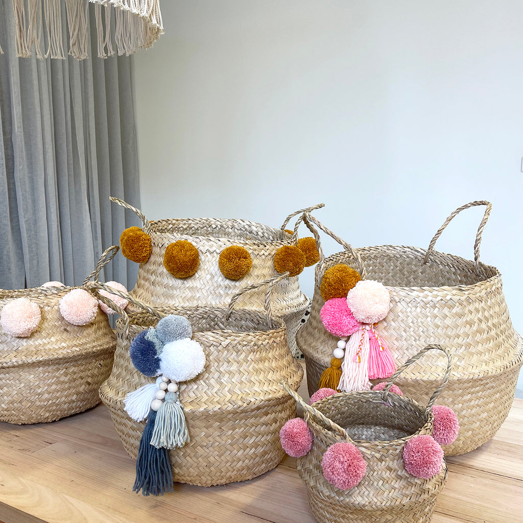 MINI // Pompom Belly Basket