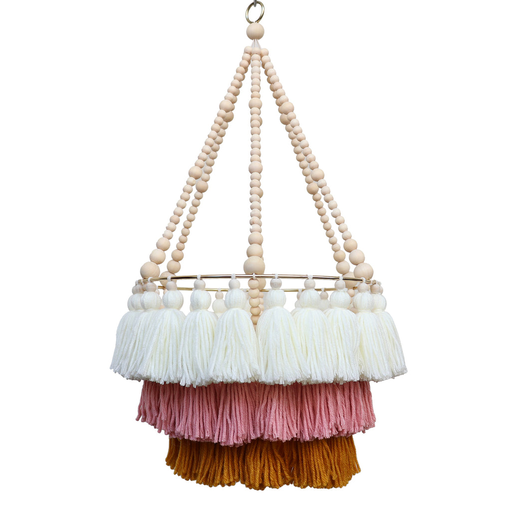 ISLA // Triple Layer Tassel Chandelier