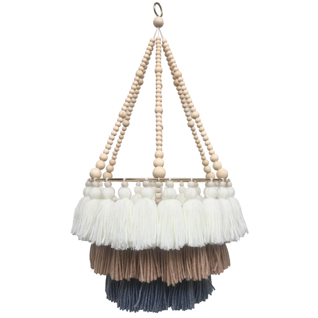 LENNY // Triple Layer Tassel Chandelier