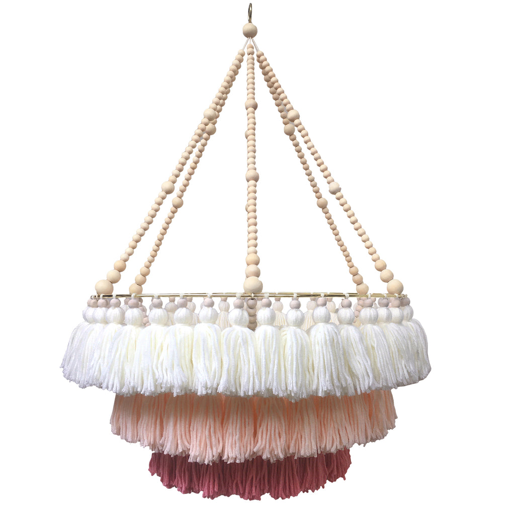 LILA // Triple Layer Tassel Chandelier