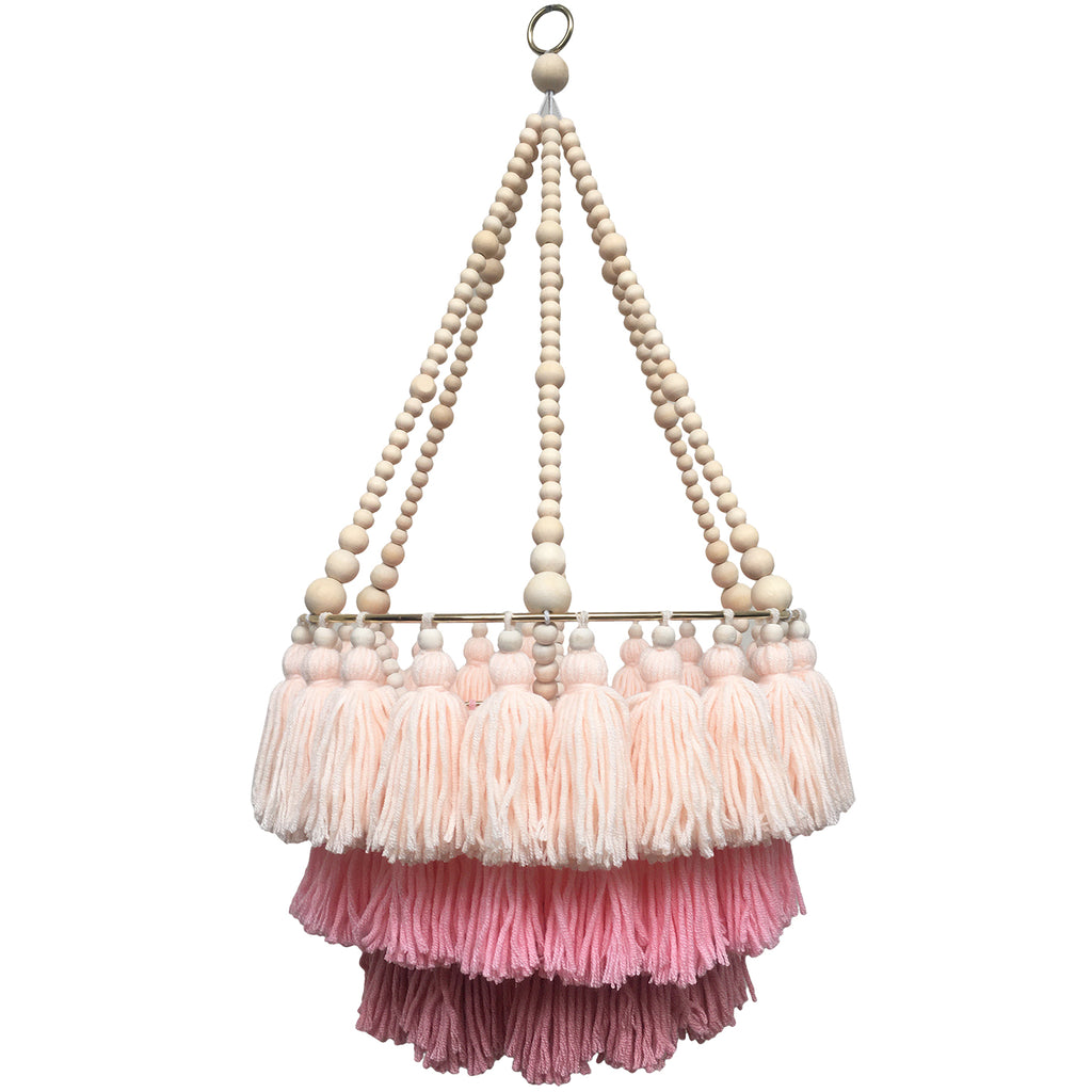 MIMI // Triple Layer Tassel Chandelier