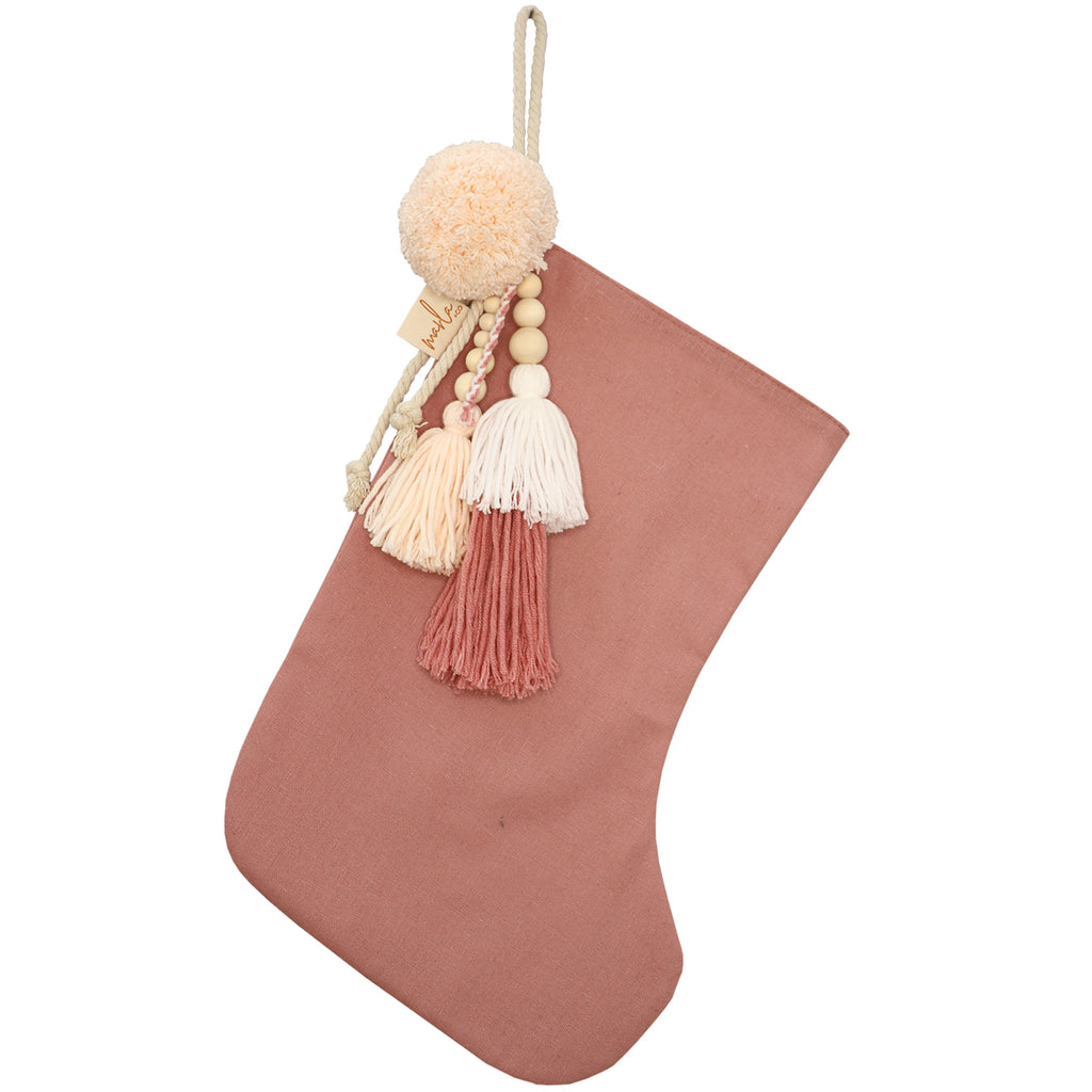 SANTA STOCKING // Dusty Pink