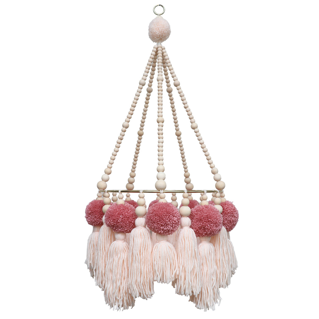 *NEW* ROSE PEACH // Pompom Tassel Chandelier