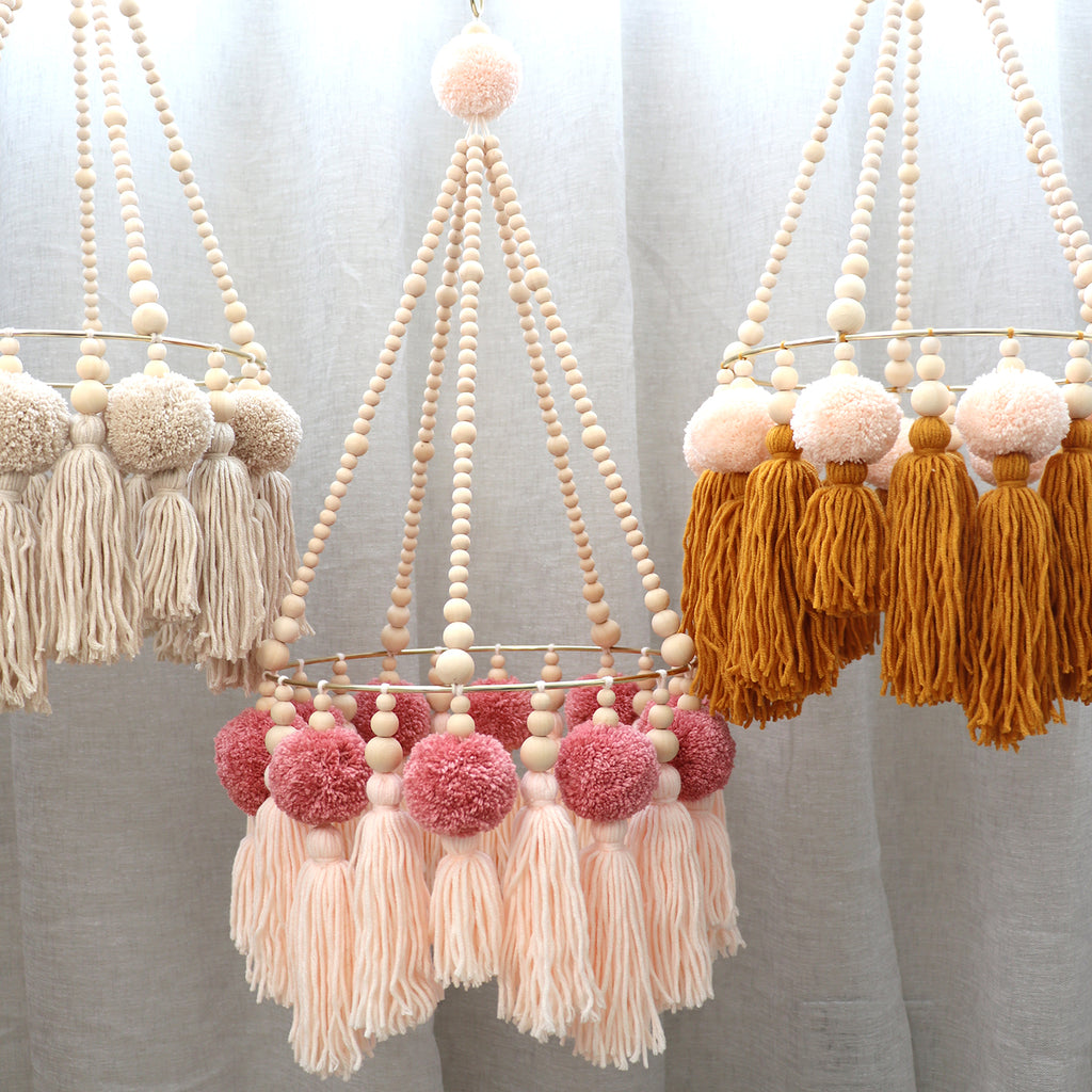 *NEW* PUMPKIN // Pompom Tassel Chandelier