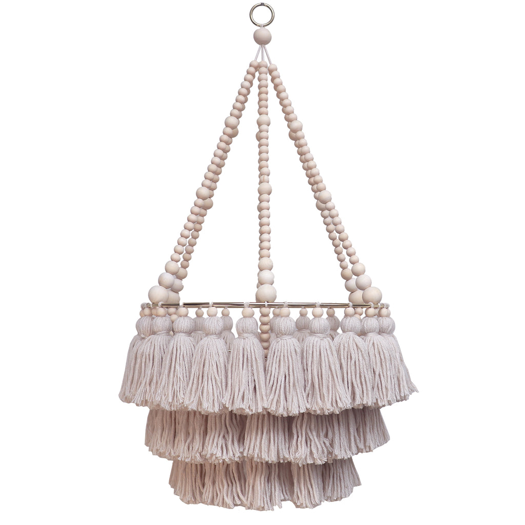 VIENNA // Triple Layer Tassel Chandelier