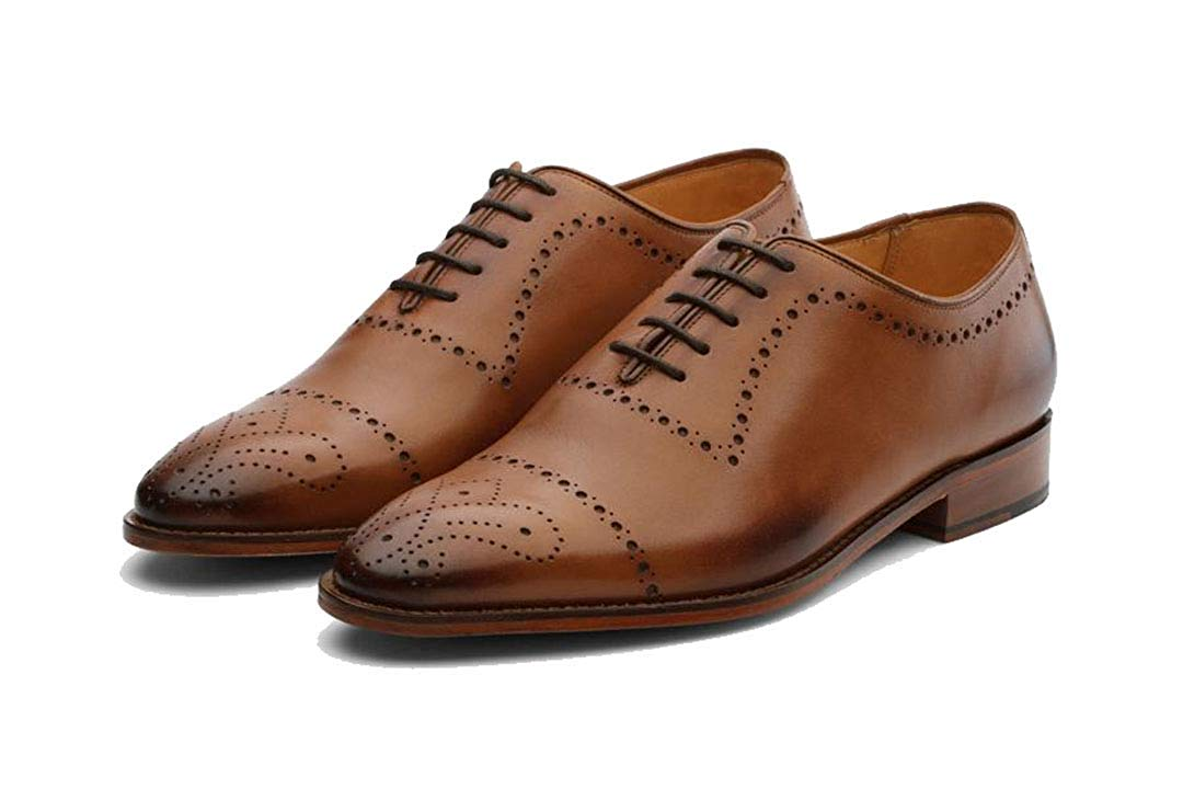 Noah Tan Goodyear Welted Wholecut Oxford