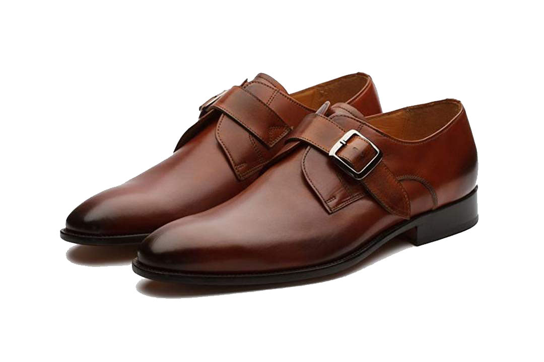 Lucas Tan Goodyear Welted Single Monk Strap