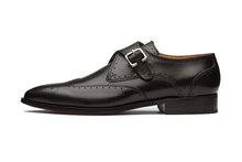 Load image into Gallery viewer, Daniel Goodyear Welted Black Brogue Single Monk Strap
