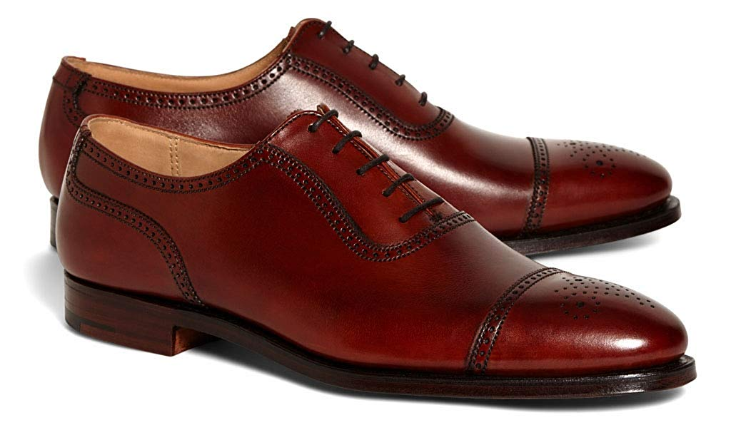 Chrisol Goodyear Welted Cherry Red Brogue Oxford