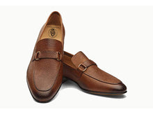 Load image into Gallery viewer, Ethan Pebble Grain Goodyear Welted Tan Penny Loafer
