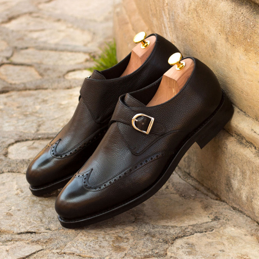Jack Black Pebble Grain Goodyear Welted Single Monk Strap