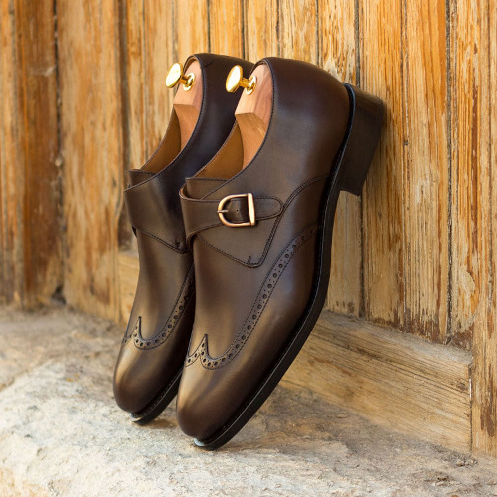 Daniel Dark Brown Goodyear Welted Single Monk Strap
