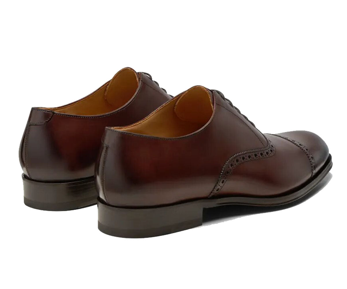 Denver Goodyear Welted Brown Leather Toe Cap Oxford