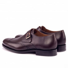 Load image into Gallery viewer, Daniel Dark Brown Goodyear Welted Single Monk Strap