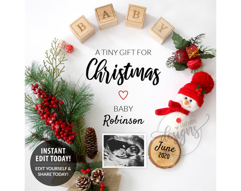 A Tiny Gift for Christmas Pregnancy Baby Announcement