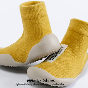 Premium Baby Sock Shoes - Yellow