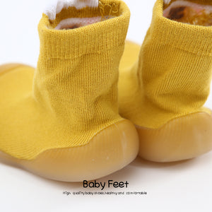 Tall Animal Sock Shoes - Yellow Sheep