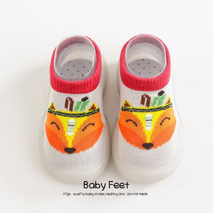 Open image in slideshow, Animal Sock Shoes - Gray Fox