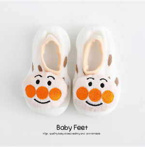 Open image in slideshow, Baby Doll Sock Shoes - Funny Face