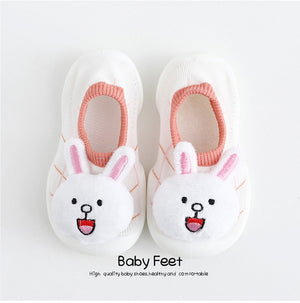 Open image in slideshow, Baby Doll Sock Shoes - White Rabbit