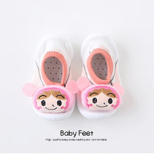 Open image in slideshow, Baby Doll Sock Shoes - Baby Girl