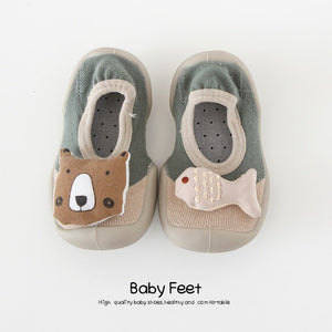 Baby Doll Sock Shoes - Bear Fishy
