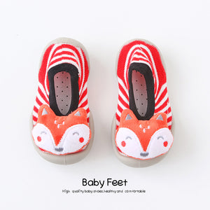 Open image in slideshow, Baby Doll Sock Shoes - Happy Fox