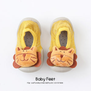 Open image in slideshow, Baby Doll Sock Shoes - Funny Lion