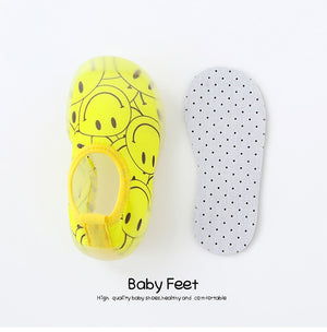 Baby Water Shoes - Yellow Smiles