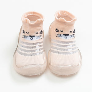 Open image in slideshow, Baby Shoe Socks - Pink Cat