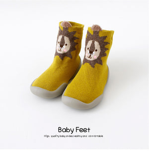 Open image in slideshow, Premium Baby Sock Shoes - Yellow Lion