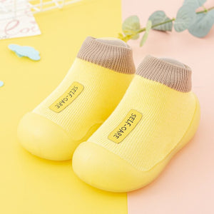 Open image in slideshow, Premium Baby Sock Shoes - Yellow