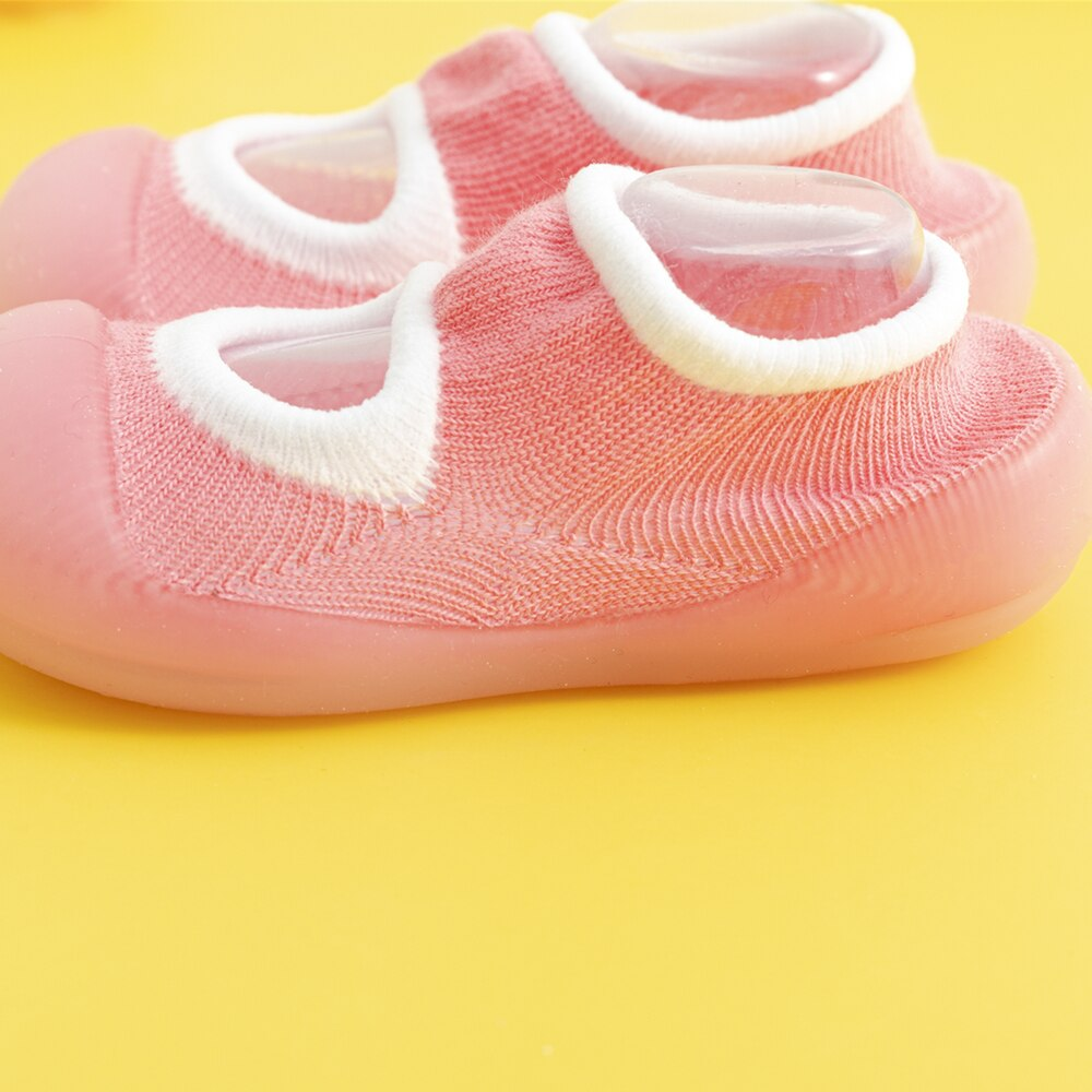Spring Baby Sock Shoes - Pink