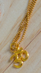 YOG. GOLD OM NECKLACE