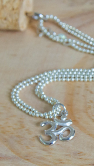YOG. SILVER OM NECKLACE