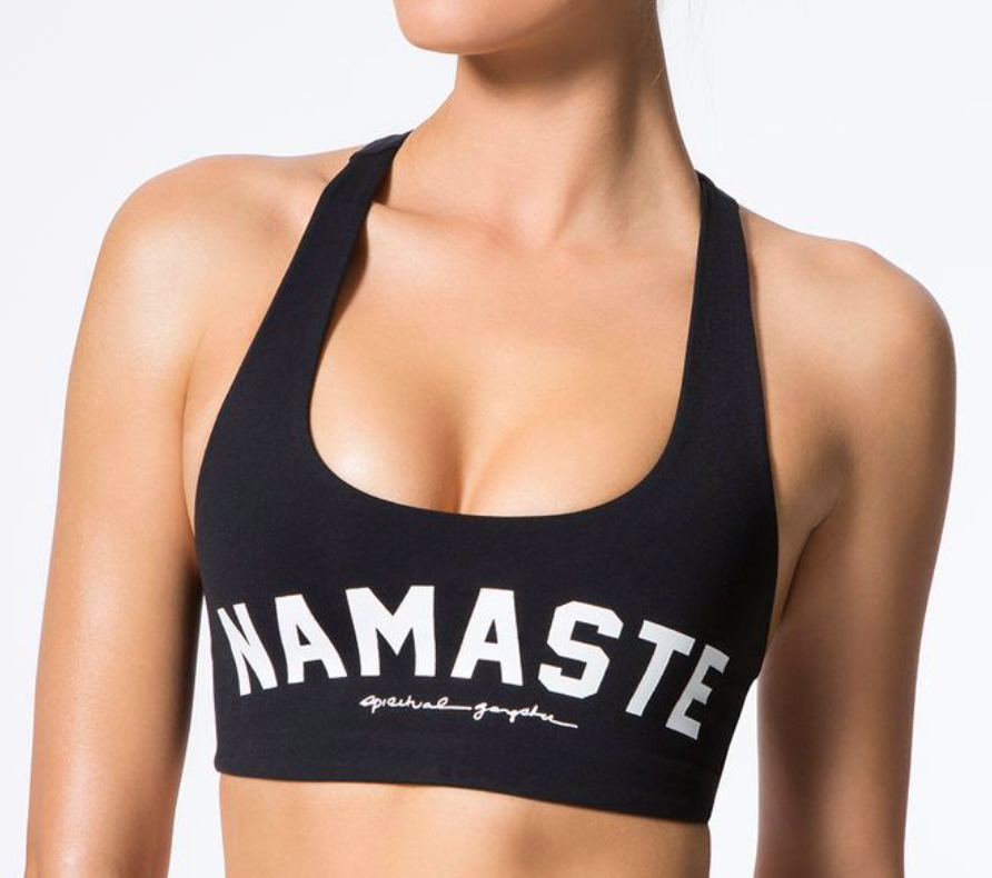 SPIRITUAL GANGSTER NAMASTE ATHLETIC CROP TOP