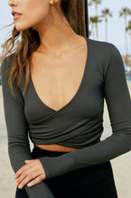 Load image into Gallery viewer, SPIRITUAL GANGSTER ODETTE WRAP TOP