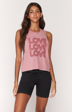 Load image into Gallery viewer, SPIRITUAL GANGSTER LOVE ACTIVE FLOW TANK- ROSE