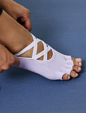 Load image into Gallery viewer, MULAWEAR LAVENDER PILATES HT SOCK