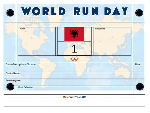 World Run Day BIB - ALBANIA