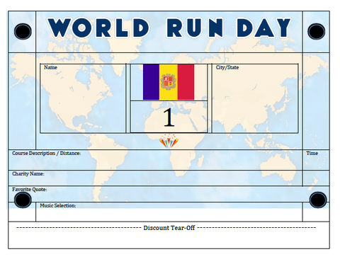 World Run Day BIB - ANDORRA