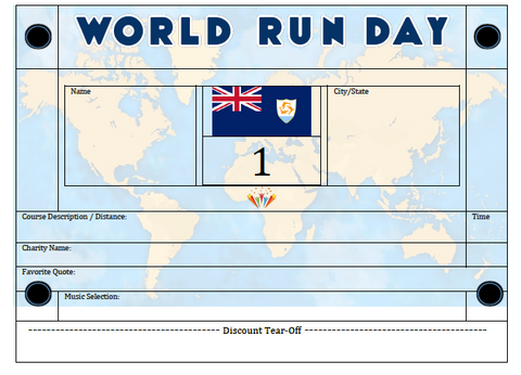 World Run Day BIB - ANGUILLA