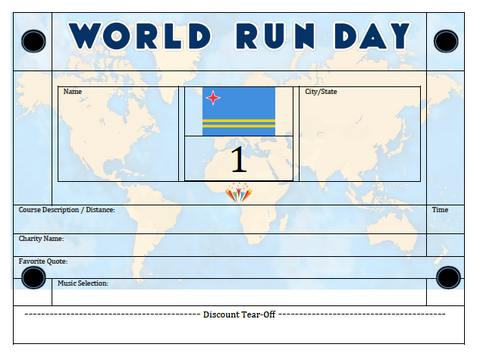 World Run Day BIB - ARUBA