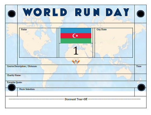 World Run Day BIB - AZERBAIJAN
