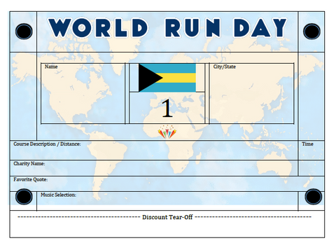World Run Day BIB - BAHAMAS