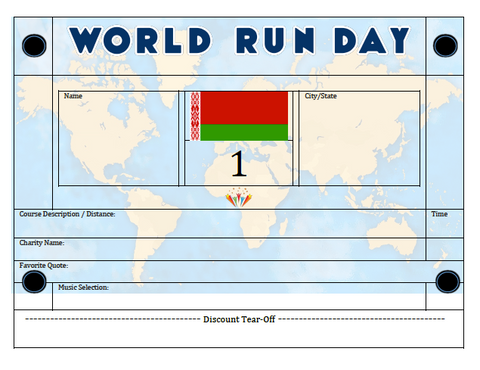 World Run Day BIB - BELARUS
